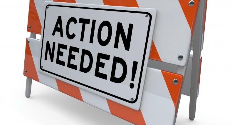 Action Needed Barrier Blockade Immediate Act Now