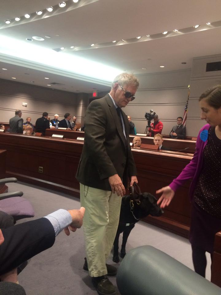 Steven Mikochik, federal attorney and blind man testifies on behalf of the Family Institute of Connecticut against assisted suicide.